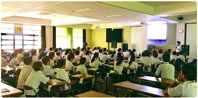 東大阪市立縄手中学『体験授業』 - 大阪府立枚岡樟風高等学校ブログ
